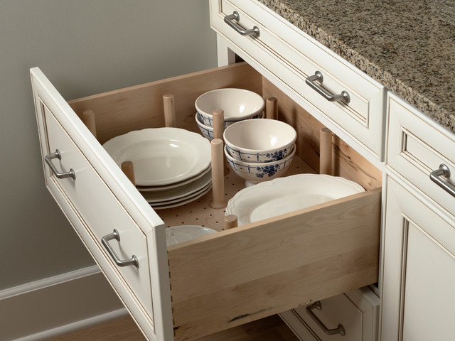 Drawer Plate Storage Traditional Kitchen Minneapolis