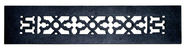 "Decorative Cast Iron Grille, Without Holes, 14""x2.25""."