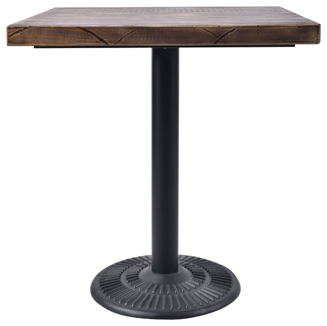 Cool Vintage 28 Square Bistro Table Weathered Gray Top And Black Powder Coat Base Ocoug Best Dining Table And Chair Ideas Images Ocougorg
