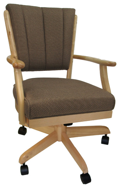 Dining Chair On Wheels Solid Wood