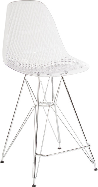 Counter Height Stool With Chrome Legs