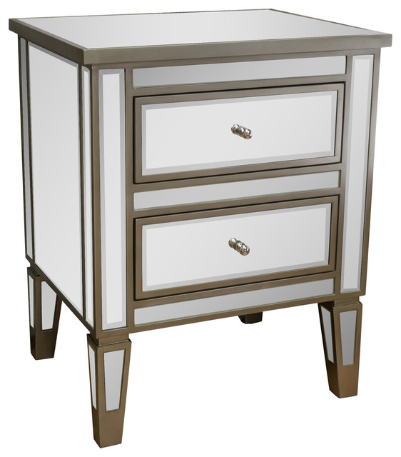 Graham Mirror 2 Drawer End Table Nightstand