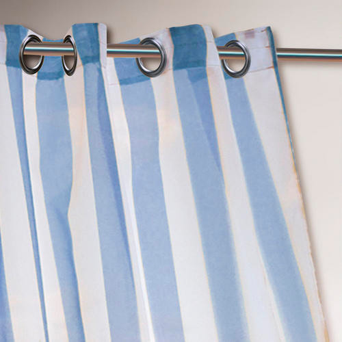 Blue Striped Curtains - Curtains Design Gallery
