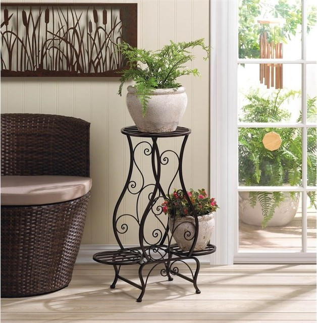Hourglass Triple Plant Stand.