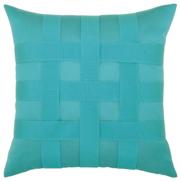 Basketweave Pillow Aruba Contemporary Outdoor Cushions