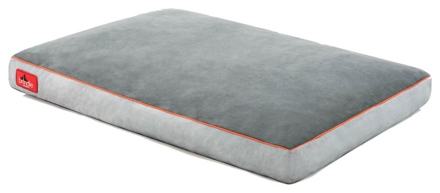 Brindle Soft Memory Foam Dog Bed with Removable Washable Cover, Stone