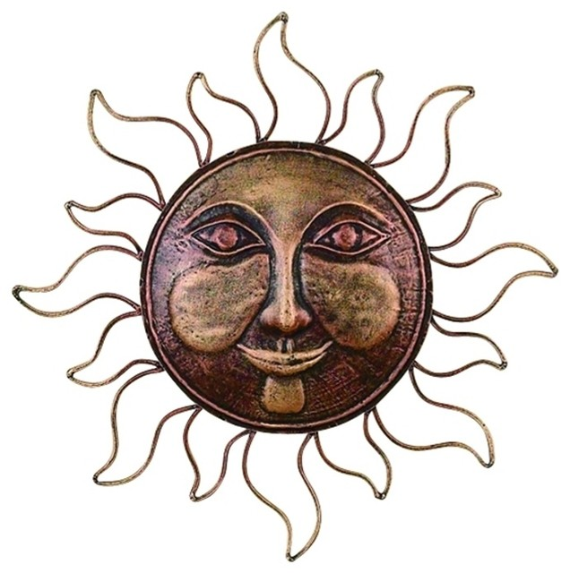 Sun And Moon Wall Decor classic metal sun face brass wall decor art sculpture