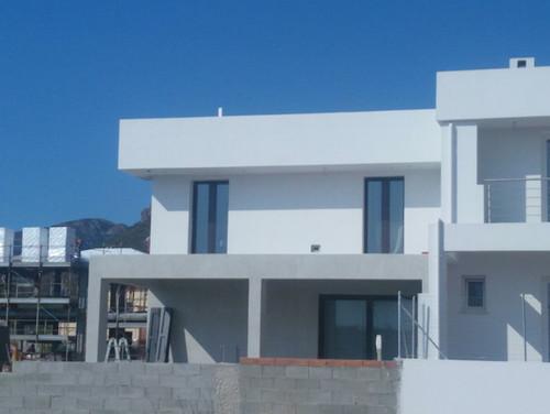 pittura esterna casa moderna