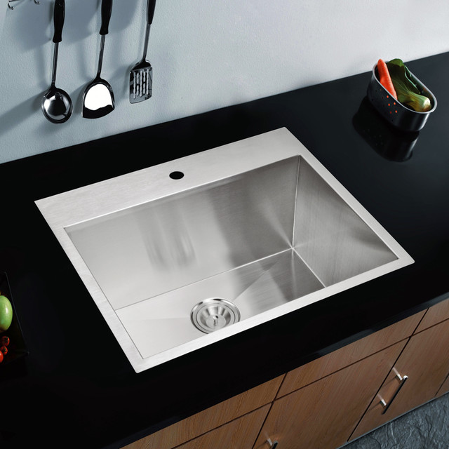 drop in stainless steel kitchen sinks water creation single bowl stainless steel drop in kitchen 9626