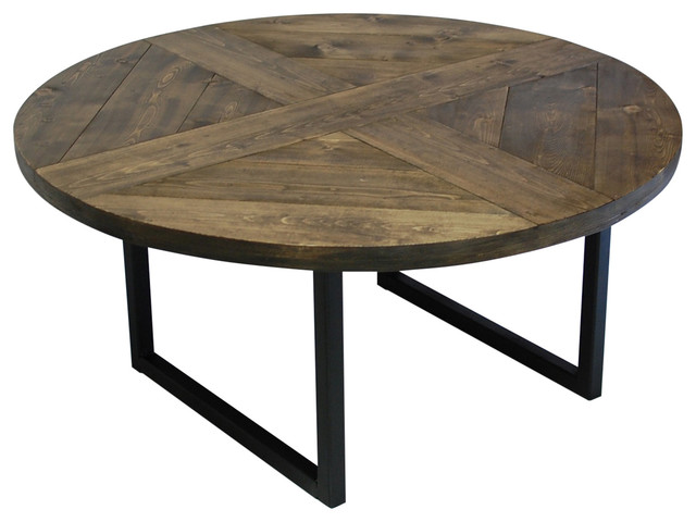 Round Pattern Modern Coffee Table Industrial Coffee Tables By Southern Sunshine