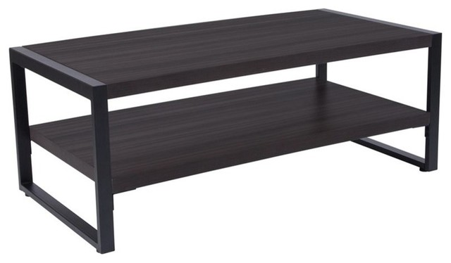 Flash Furniture Coffee Table In Charcoal Transitional Tables By Homesquare