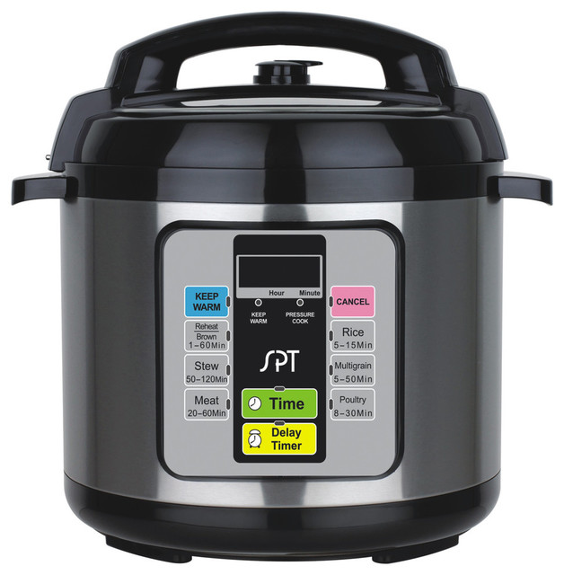 Spt 6.5-Quart Electric Stainless Steel Pressure Cooker Epc-11a.