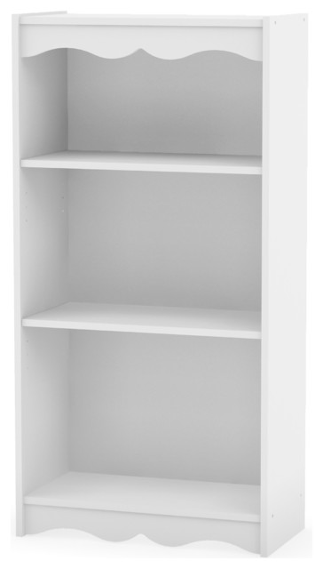 "Sonax Hawthorn Tall Bookcase, Frost White, 48""."