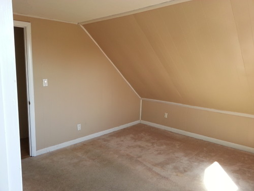 Moving into apartment with slanted ceilings