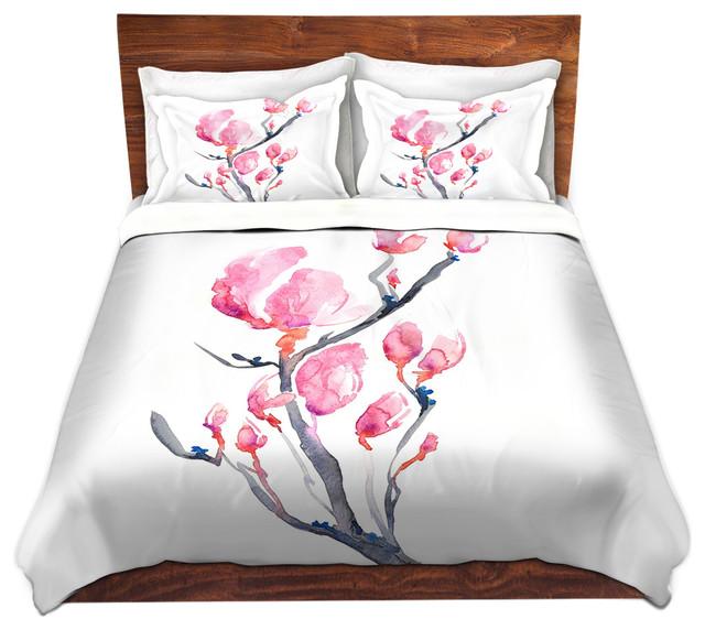 Floral Magnolia Painting Nature Modern Duvet Cover, Twin - Asian - Duvet  Covers And Duvet Sets - by Brazen Design Studio