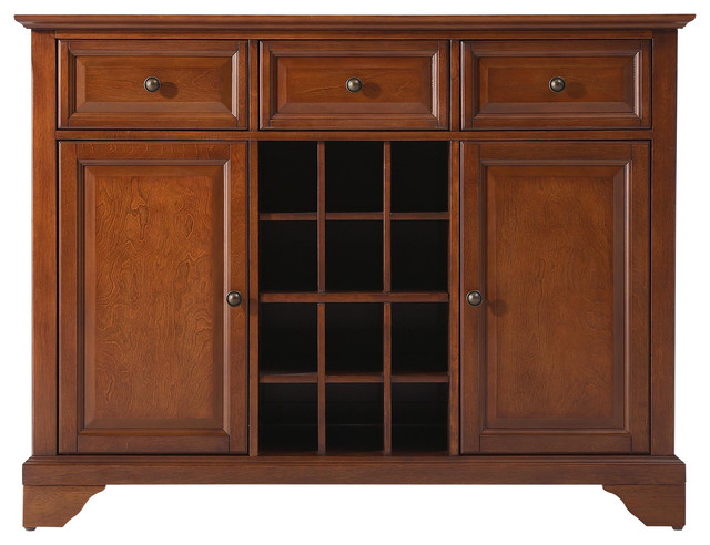 Crosley - LaFayette Buffet Server / Sideboard Cabinet With Wine Storage & Reviews | Houzz
