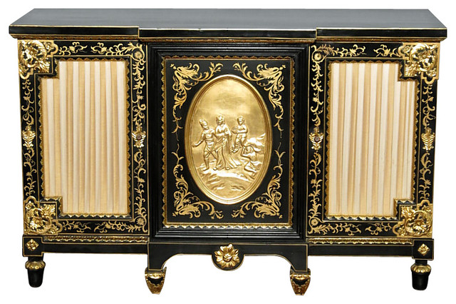 Black Gold Italian Buffet Sideboard Server Cabinet - Buffets And Sideboards - by MBW Furniture