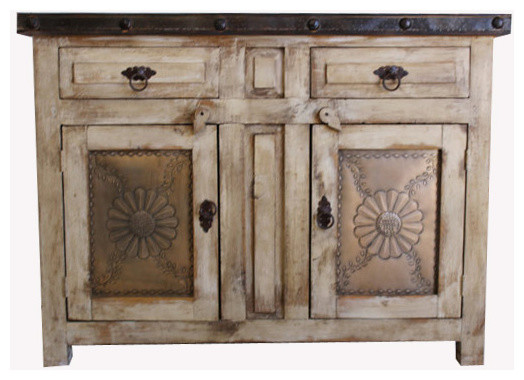 Rusic Bathroom Vanity Flora Laminosa, White Wash, 36x22x36, Top Drawers Real.