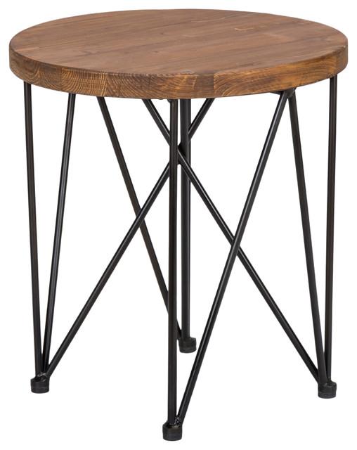 Dalia Round End Table By Kosas Home.