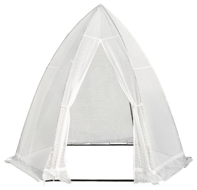 Abba Patio Portable Hexagonal Walk In Greenhouse Fully Enclosed Tent With Window.