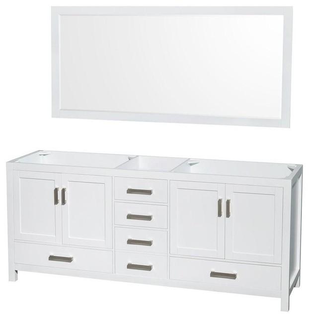 """34.25"""" Bathroom Vanity Set In White."""