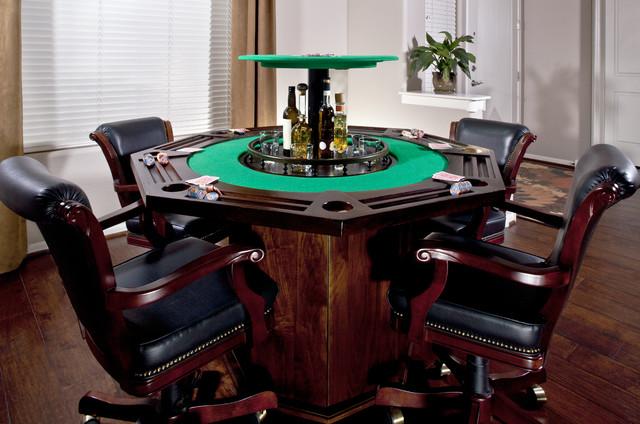 Custom Poker Table With Hidden Bar Traditional Phoenix