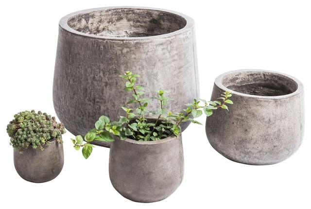 Samai Planter, Charcoal Gray, Large