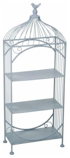 Metal Birdcage Shelf Stand.