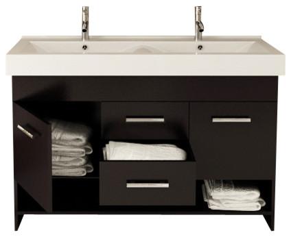 Rigel Double Sink Modern Bathroom Vanity Cabinet ...