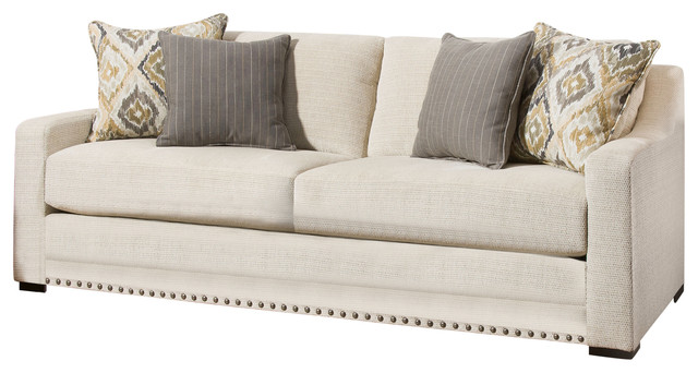 Beau Simmons Upholstery Thaxton Ivory Sofa