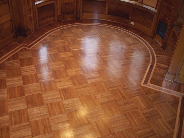 Union block parquet traditional hardwood flooring by czar floors
