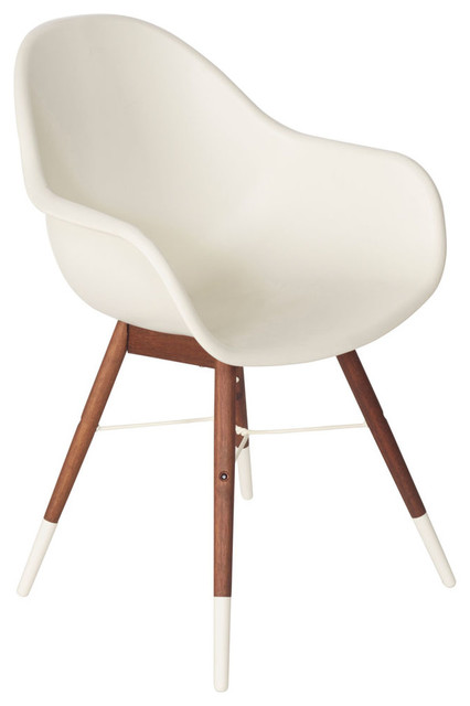 Chamonix Bucket Chair White Contemporary Outdoor Dining Chairs