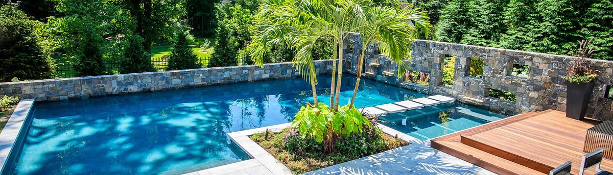 Stunning Modern Inground Pool Design   Westfield NJ