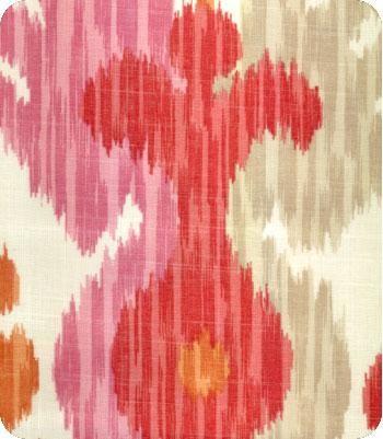 Journey Ikat Fabric, Pink/Orange