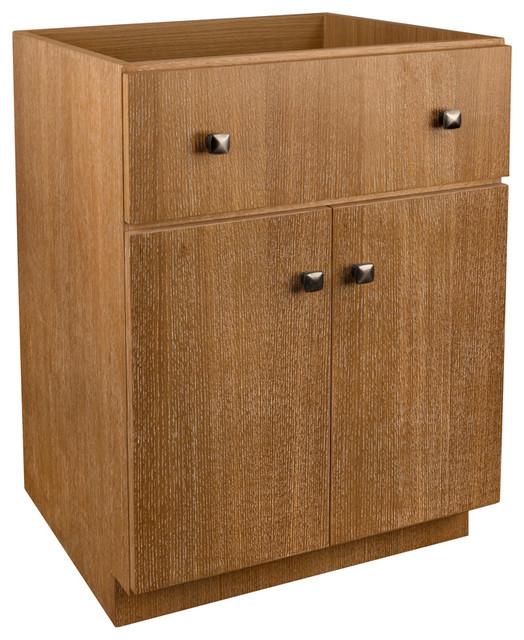 "Ronbow 24"" Amberlyn Solid Wood Vanity Cabinet Base, Vintage Honey."