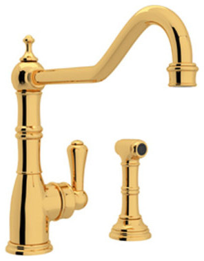 Rohl Kitchen Faucet In Inca Brass