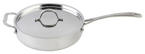 Le Chef 5-Ply Stainless Steel Fry Pan 2-3/4 Qt..