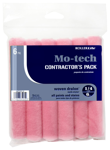 "6"" X 1/4"" Shed-Resistant Motech Mini Roller Covers 6-Pack."