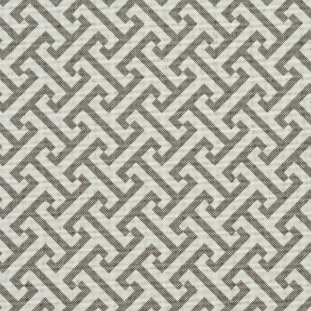 Grey and White Greek Key Geometric Outdoor Indoor Upholstery Fabric By The Yard