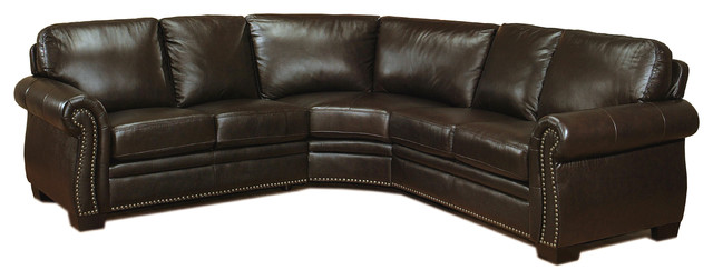 Marvelous Abbyson Living Santa Monica Sectional Sofa Brown Gmtry Best Dining Table And Chair Ideas Images Gmtryco