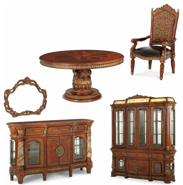 piece round dining room set traditional kitchen and dining furniture