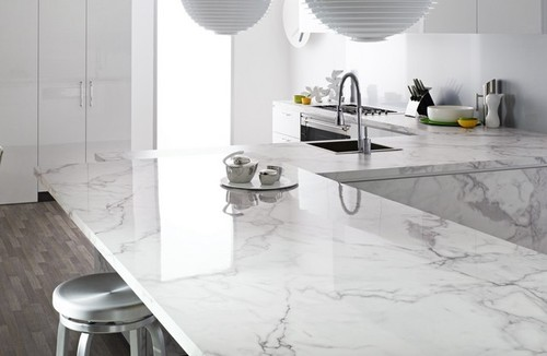 I think i found it gorgeous counters that look like marble for Cost of caesarstone countertops