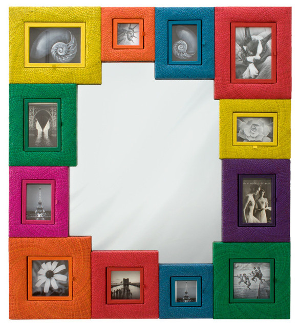 Framed Wall Mirrors picture frame wall mirror - contemporary - wall mirrors - other