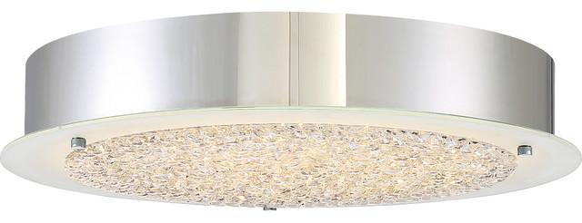 Platinum Collection Blaze Polished Chrome Finish, Large Flush Mount.