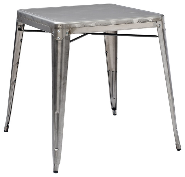 Marvelous Amelia Metal Cafe Table, Galvanized Dining Tables