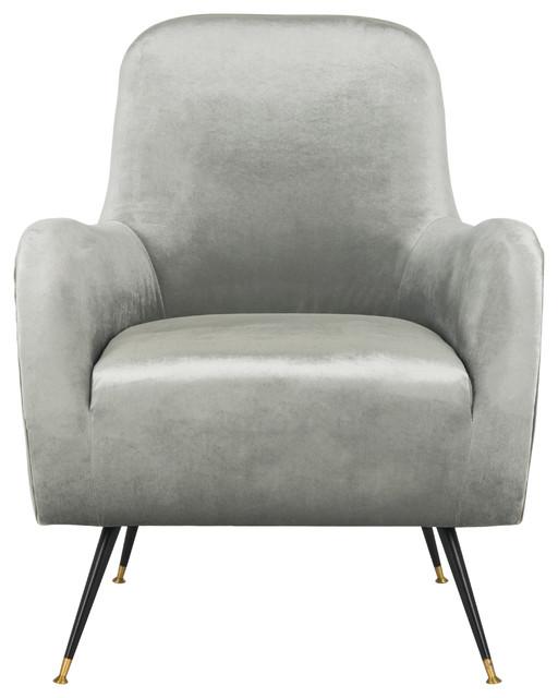 Safavieh Noelle Velvet Retro Mid Century Accent Chair