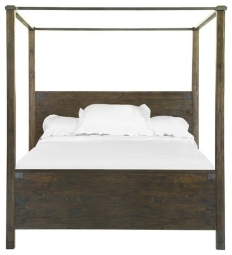 Magnussen Pine Hill King Poster Bed In Rustic Pine.