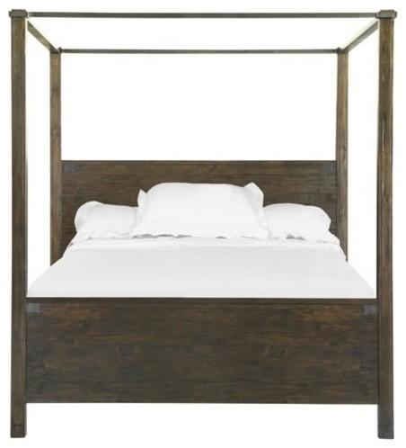Magnussen Pine Hill Queen Poster Bed In Rustic Pine