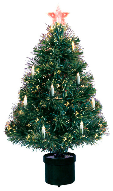 Fiber Optic Tree With Candles, 125 Tips, 3' - Christmas Trees - by ...