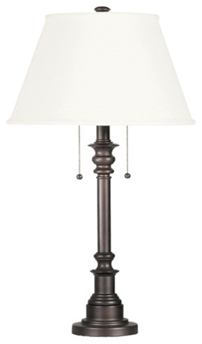 Bronze Steel Finish Table Lamp Bronze Traditional